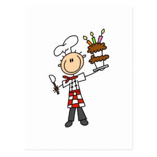 Camisetas y regalos del chef de repostería postales