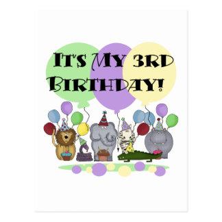 Camisetas y regalos del cumpleaños de los animales postales