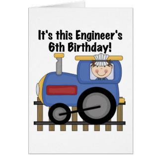 Camisetas y regalos del cumpleaños del ingeniero d tarjeta de felicitación