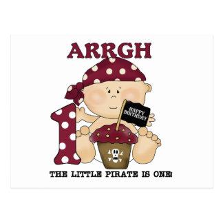 Camisetas y regalos del cumpleaños del pirata del postal