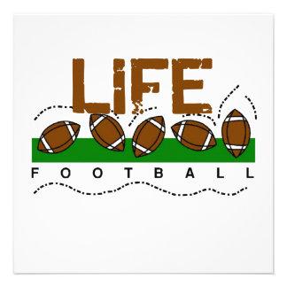Camisetas y regalos del fútbol de la vida invitación
