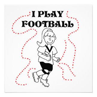 Camisetas y regalos del fútbol del juego del chica invitacion personal