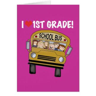 Camisetas y regalos del grado del amor del autobús tarjeta de felicitación