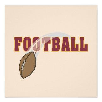 Camisetas y regalos del lanzamiento del fútbol invitación personalizada
