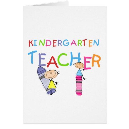 Camisetas y regalos del maestro de jardín de infan tarjeta