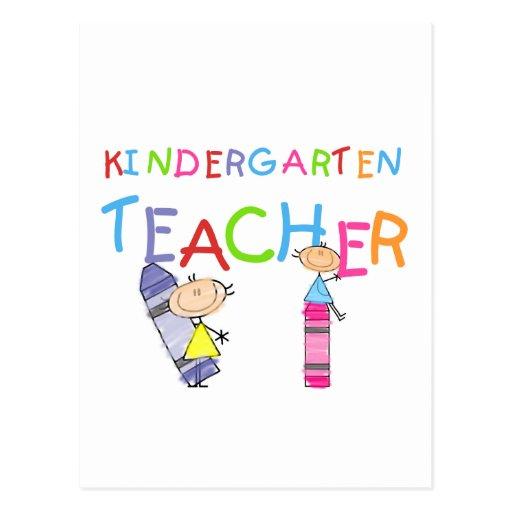 Camisetas y regalos del maestro de jardín de infan tarjeta postal