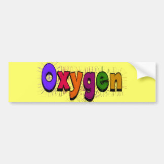 """Camisetas y regalos del """"oxígeno"""" del terapeuta re pegatina para coche"""