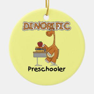 Camisetas y regalos del Preschooler de Dinorific Adorno Redondo De Cerámica