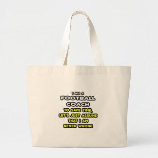 Camisetas y regalos divertidos del entrenador de f bolsa de mano