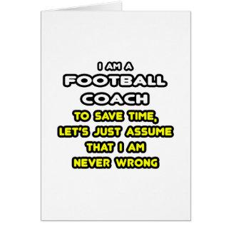 Camisetas y regalos divertidos del entrenador de tarjeta de felicitación