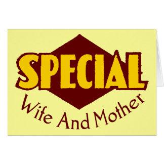 Camisetas y regalos especiales de la esposa para tarjeta de felicitación
