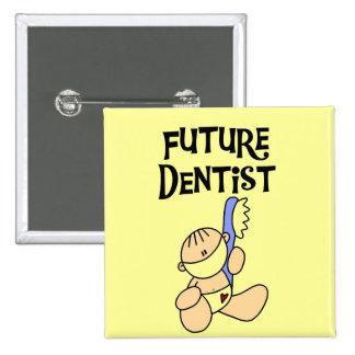 Camisetas y regalos futuros del dentista del bebé chapa cuadrada