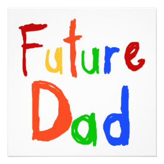 Camisetas y regalos futuros del papá del texto del comunicados personalizados