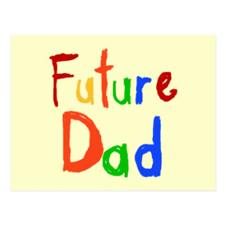 Camisetas y regalos futuros del papá del texto del tarjeta postal