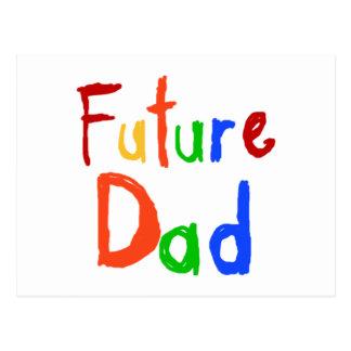 Camisetas y regalos futuros del papá del texto del postales
