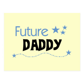 Camisetas y regalos futuros del papá postal