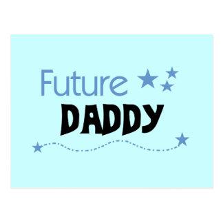 Camisetas y regalos futuros del papá postales