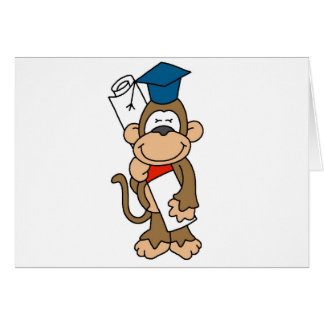 Camisetas y regalos graduados del mono tarjeta de felicitación