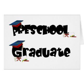 Camisetas y regalos graduados del preescolar tarjeta
