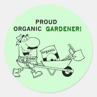 Camisetas y regalos orgánicos orgullosos del pegatina redonda