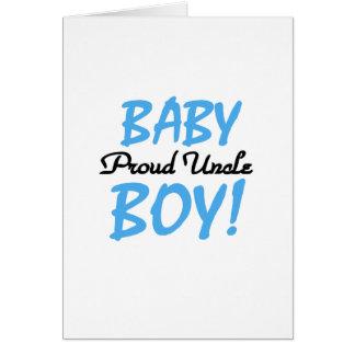 Camisetas y regalos orgullosos del tío bebé tarjeta de felicitación
