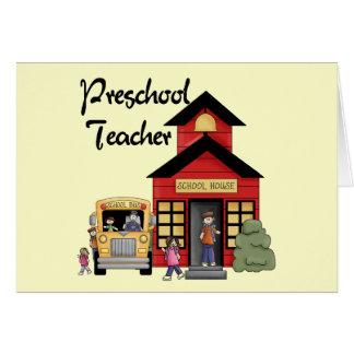 Camisetas y regalos preescolares del profesor de l tarjeta de felicitación