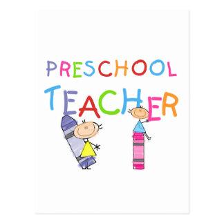 Camisetas y regalos preescolares del profesor de postal