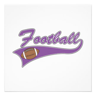 Camisetas y regalos púrpuras del fútbol del equipo anuncios