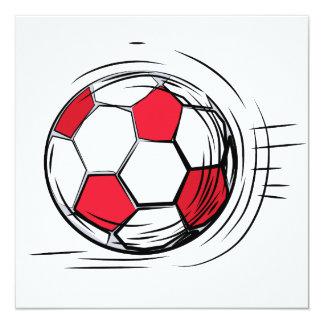 Camisetas y regalos rojos del balón de fútbol invitacion personal