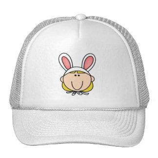 Camisetas y regalos rubios del chica de conejito gorros