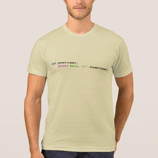 Camisetas y tops del saludo del pitón