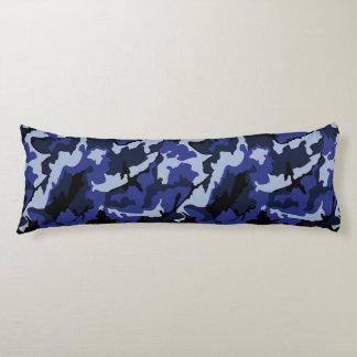 Camo azul, almohada cepillada del cuerpo del