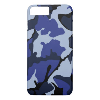 Camo azul, caso más de Barely There del iPhone 7 Funda iPhone 7 Plus