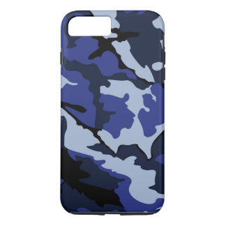 Camo azul, caso más del iPhone 7 duros Funda iPhone 7 Plus