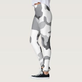 Camo blanco y negro leggings