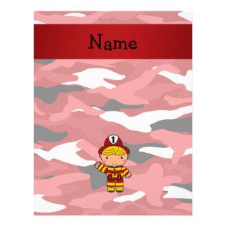 Camo conocido personalizado del rojo del bombero flyer personalizado