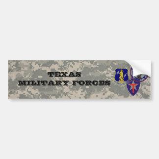 camo digital - TXSG - fuerzas militares de TX Pegatina De Parachoque