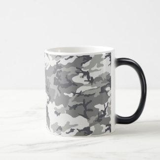 Camo gris urbano taza mágica
