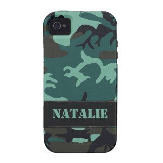 Camo militar adaptable vibe iPhone 4 fundas