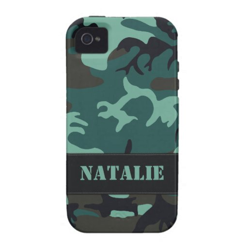 Camo militar adaptable vibe iPhone 4 fundas