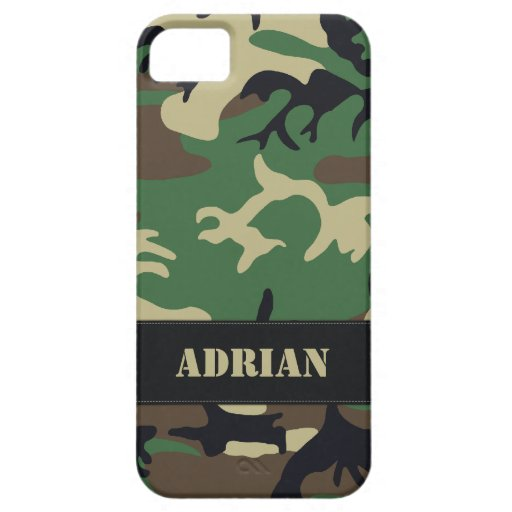 Camo militar adaptable iPhone 5 Case-Mate coberturas