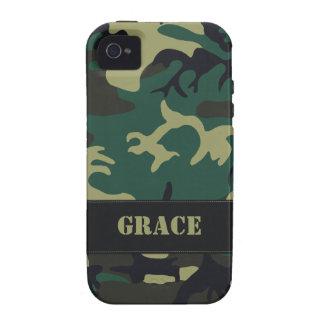 Camo militar adaptable vibe iPhone 4 carcasas
