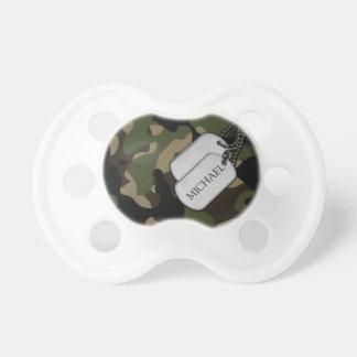 Camo militar personalizado chupetes para bebes