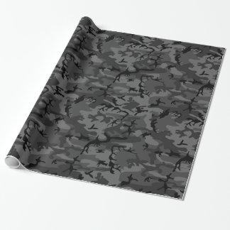 Camo negro papel de regalo