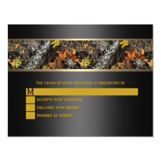 Camo negro que casa RSVP Invitación 10,8 X 13,9 Cm