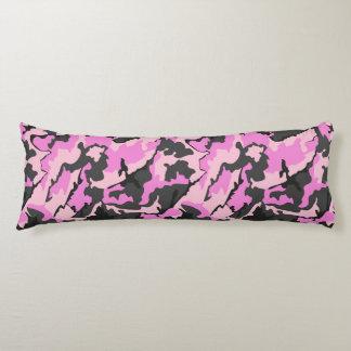Camo rosado, almohada cepillada del cuerpo del