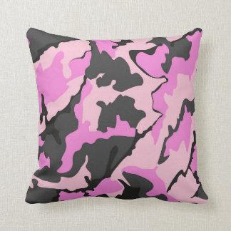 Camo rosado, almohada de tiro
