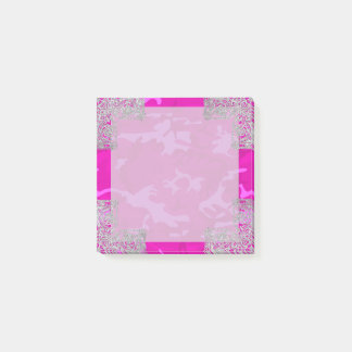 Camo rosado con falso brillo notas post-it®