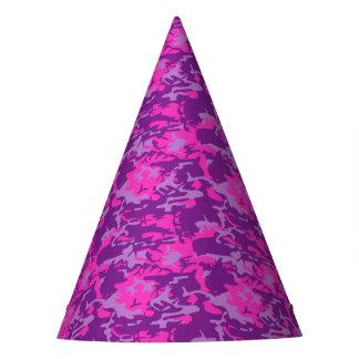 Camo rosado y púrpura gorro de fiesta