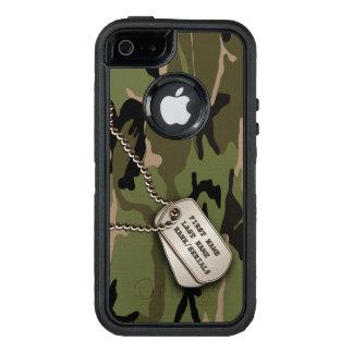Camo verde militar con la placa de identificación funda otterbox para iPhone 5/5s/SE